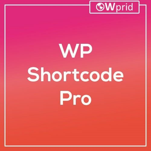 Wordpress Shortcode Pro